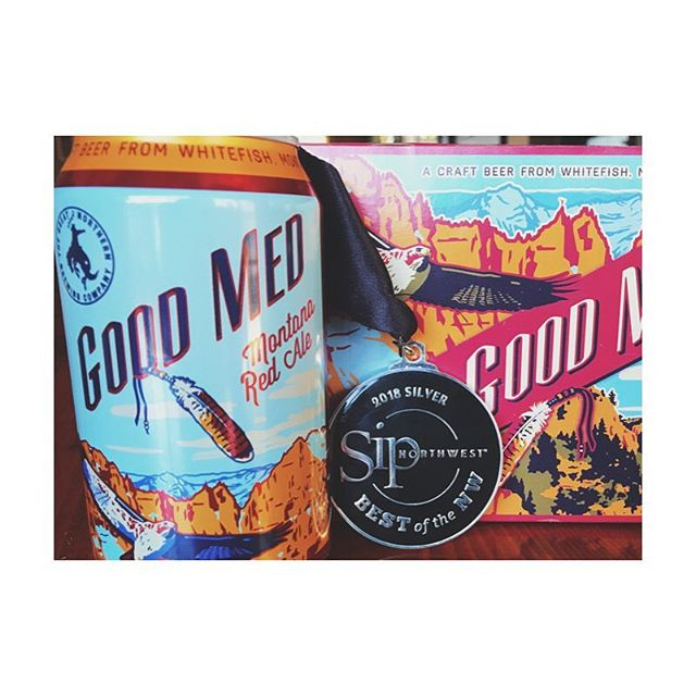 We're honored to have received two silver medals in the @sipnorthwest Best of the Northwest Awards this year. Good Med Montana Red Ale is one of our longstanding Flagship brews. Malty sweetness with a bit of hops never disappoints!