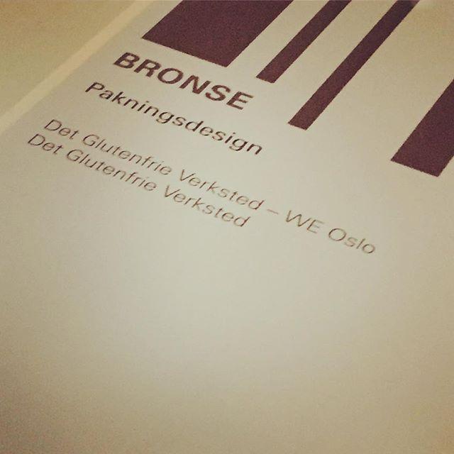 #weoslo #detglutenfrieverksted  yohoo! Bronse i pakningsdesign:)