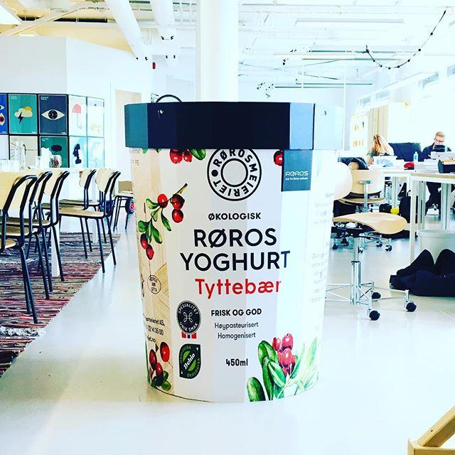 Ny pakning in da house! #rørosmeieriet #weoslo #packaging #dairy #røros #yoghurt #tyttebær @rorosmeieriet