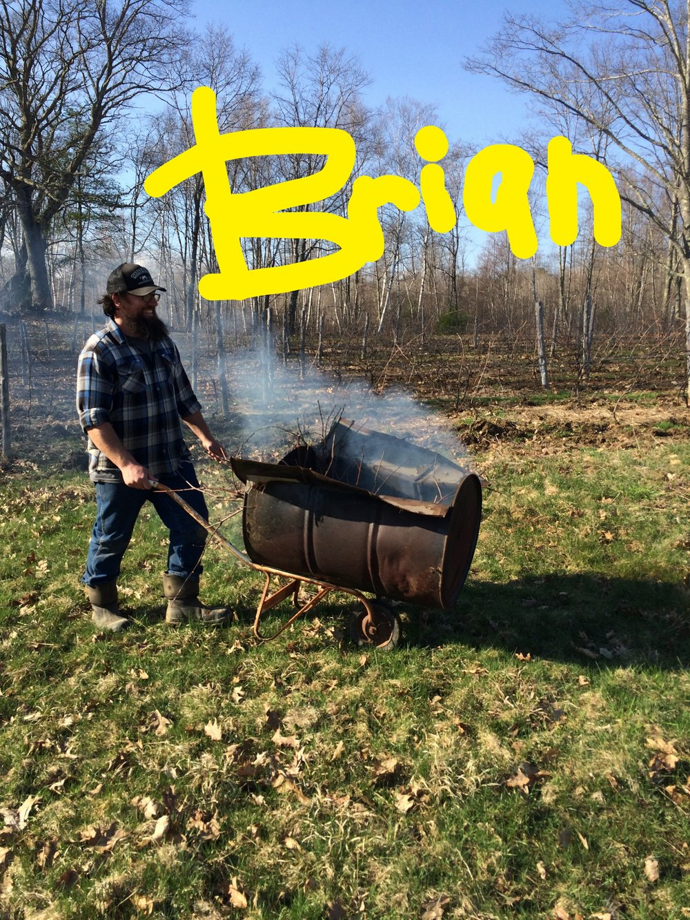brian burning trimmings.JPG