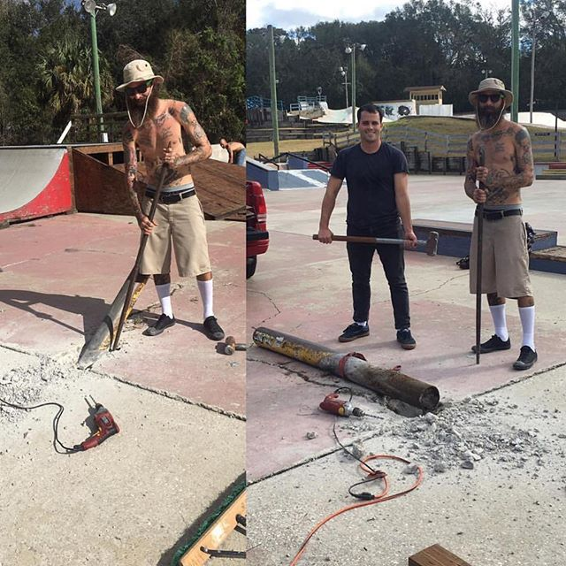 The crew over at park are putting in some DIY work before we get there. #kingofkona #kok17 #kingofkona2017 #konaskatepark