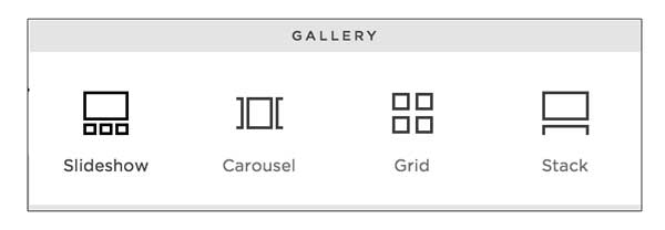 This plugin works for gallery blocks that are added like shown in this image. All 4 of these designs are supported.