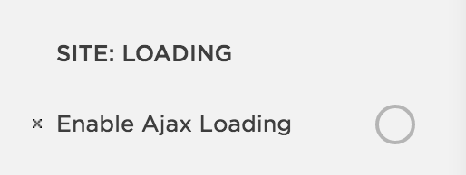 Disable ajax loading