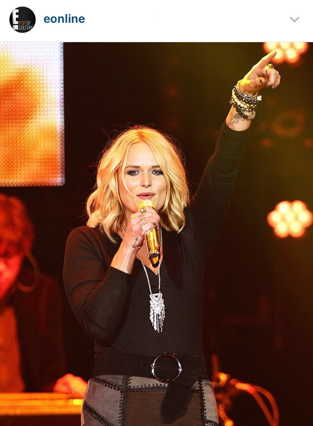 Miranda Lambert at the C2C Country Music Festival! Photo credit: eOnline's Instagram Account