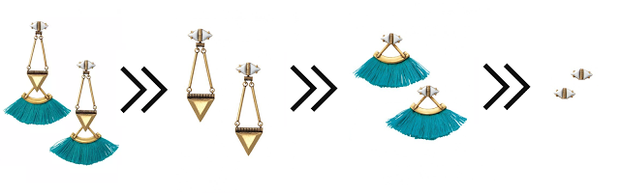 Wear the lotus chandeliers four ways!