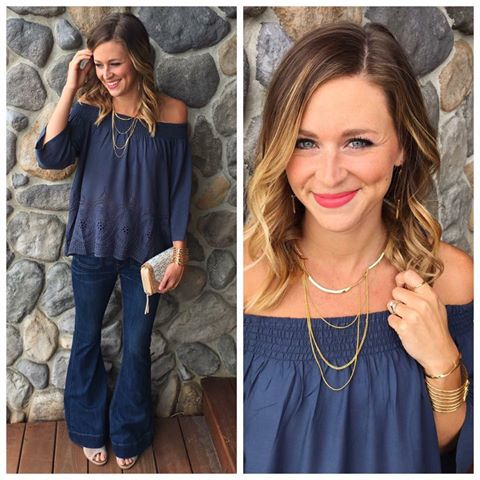 LoveStitch Clothing Romina Top, Photo credit: Blume Boutique.  All accessories: Stella & Dot.
