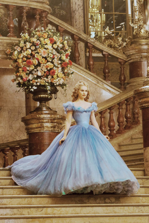 "Cinderella's dress was named one of ""The 100 Most Iconic Dresses of All Time"" by Good Housekeeping in April, 2016. Photo credit: Jonathan Olley/Walt Disney Studios"