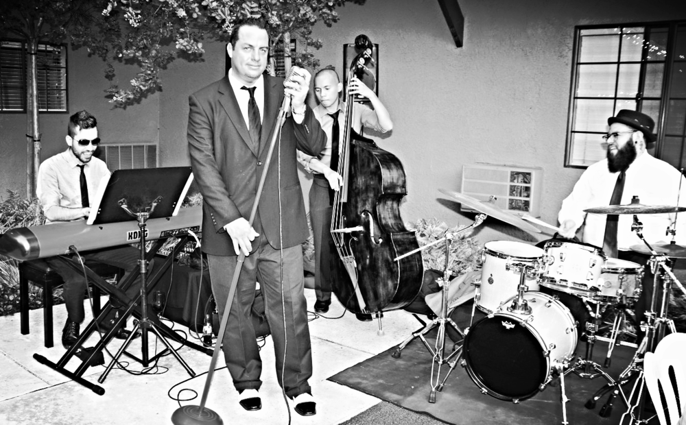 Michael Sinatra with the Dani Ahndrec Jazz Trio at a Breast Cancer awareness fundraiser