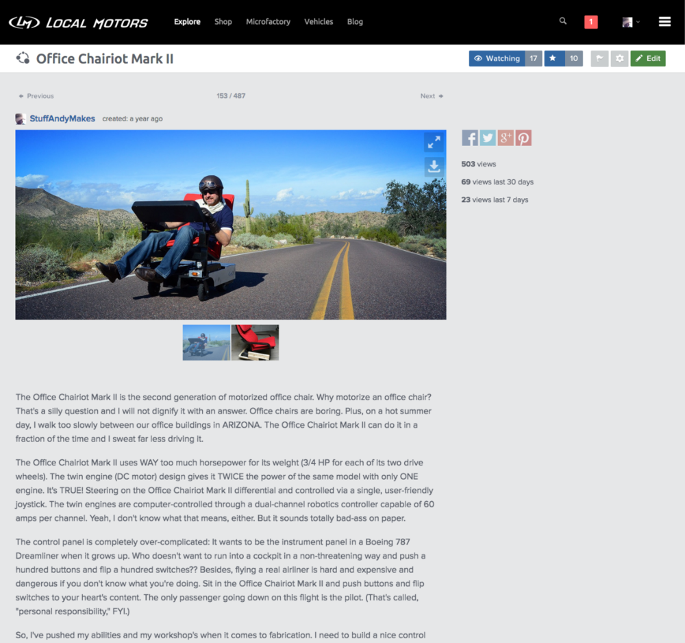 Local Motors Labs Project Page