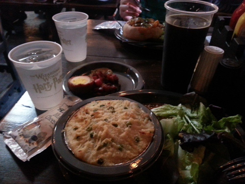 Fisherman's pie and Wizard's Brew