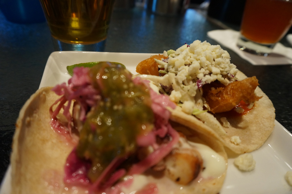 Octopus tacos at Lola Mexican Fish House