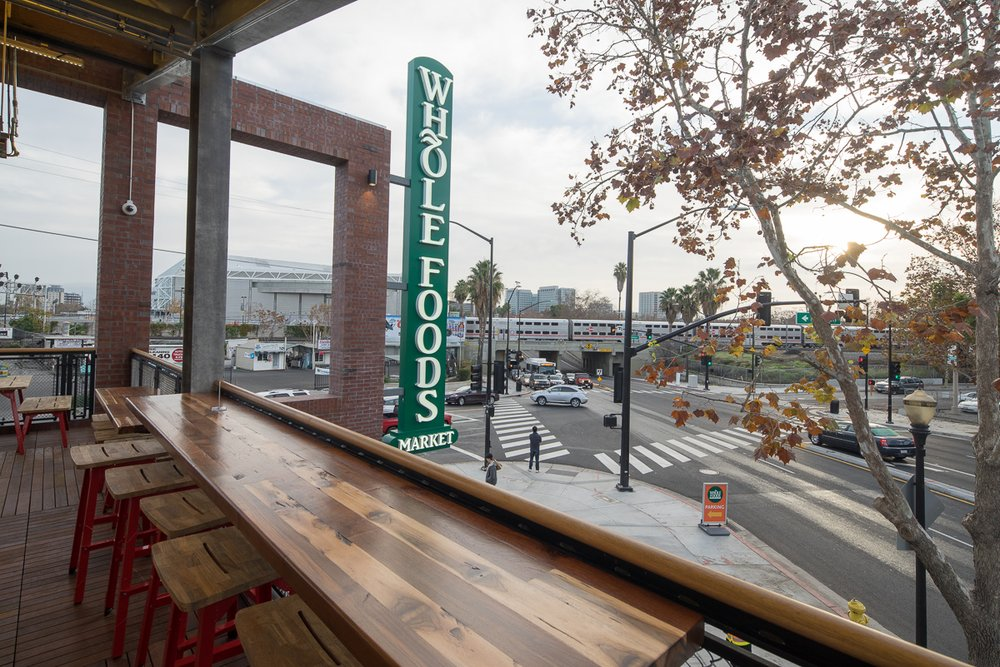 Second floor rooftop seating overlooking the streets. (MissionCreekBrewingco.com)