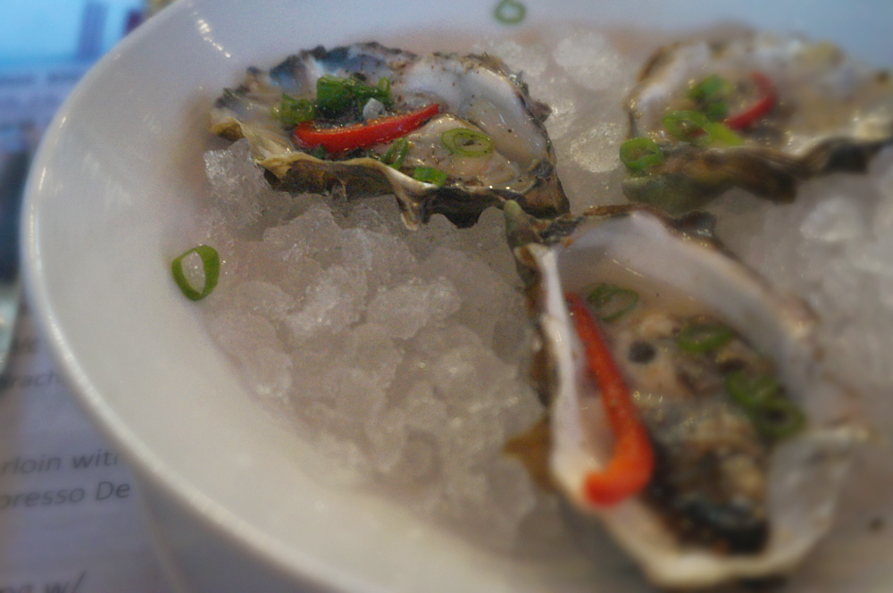 Flapjack Oyster w Green Limes | Dead Guy Whiskey