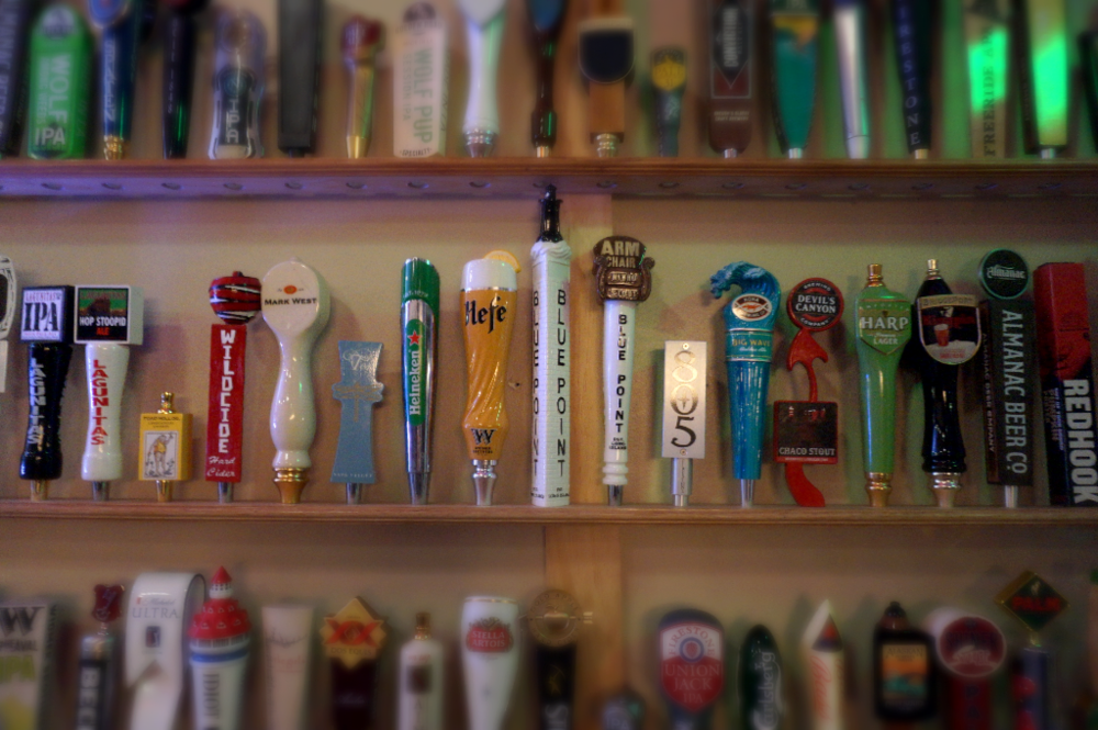 Block 34's new tap handle wall. Get ready...