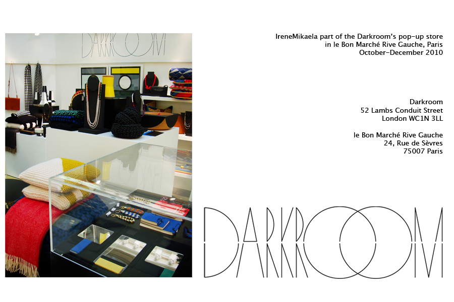 Darkroom London's pop-up store in Le Bon Marché Rive Gauche, Paris, October-December 2010