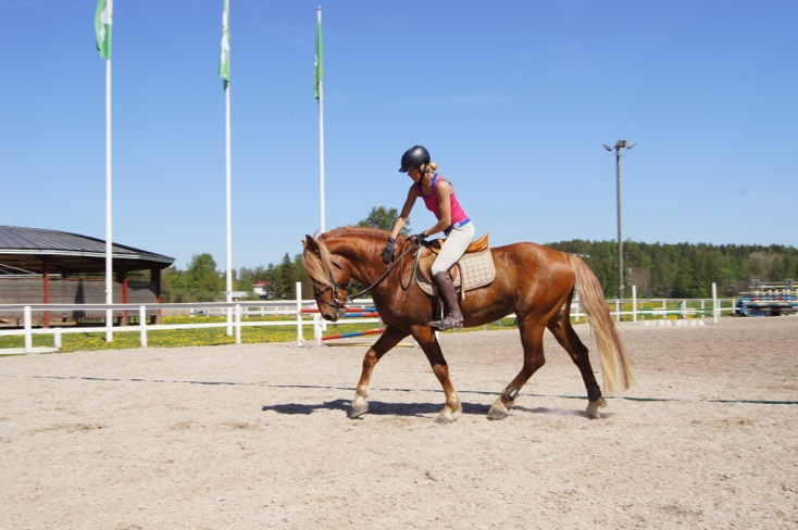 Riding wear with Peuramaa Horse, April 2012
