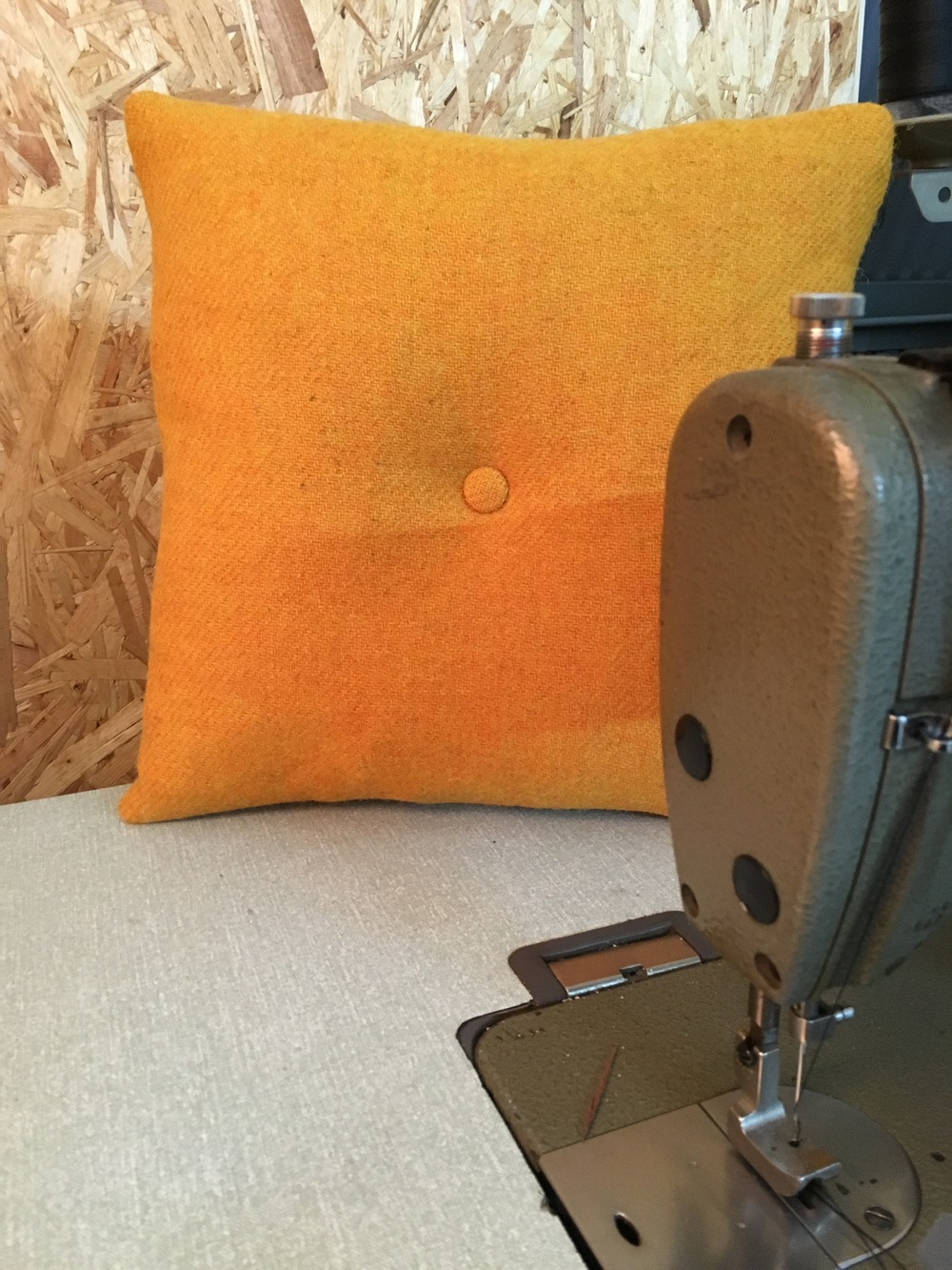 Harris Tweed Cushion, Yellow