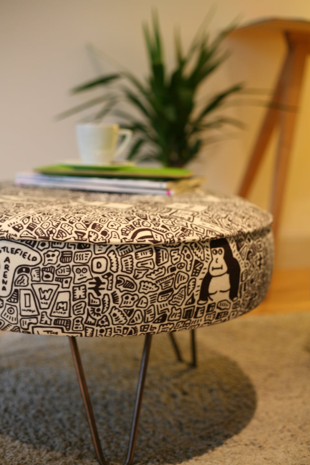 Doodle Map Footstool