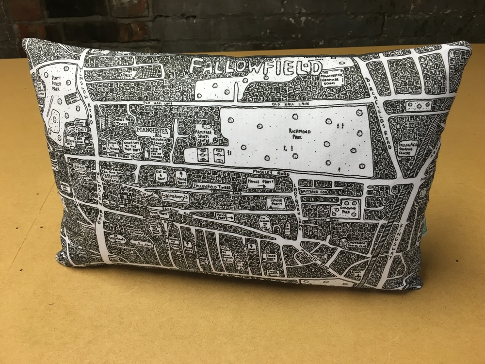 Doodle Map Footstools