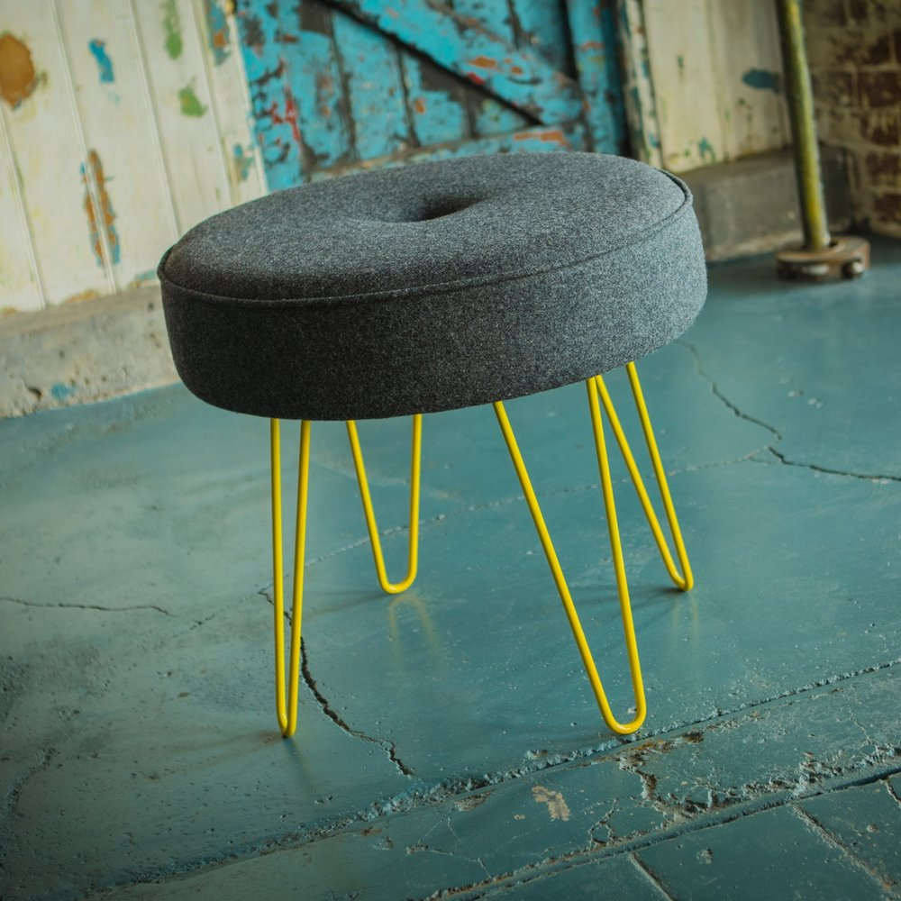 Tall Hairpin Leg Stool - Add a splash of colour with our coloured hairpin legs