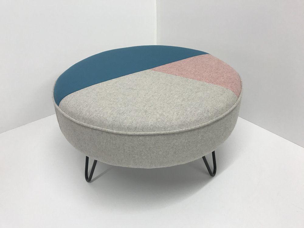 Geometric Hairpin Leg Footstool