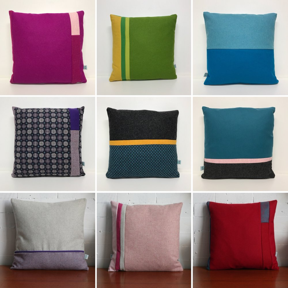 Colour Block Cushions -