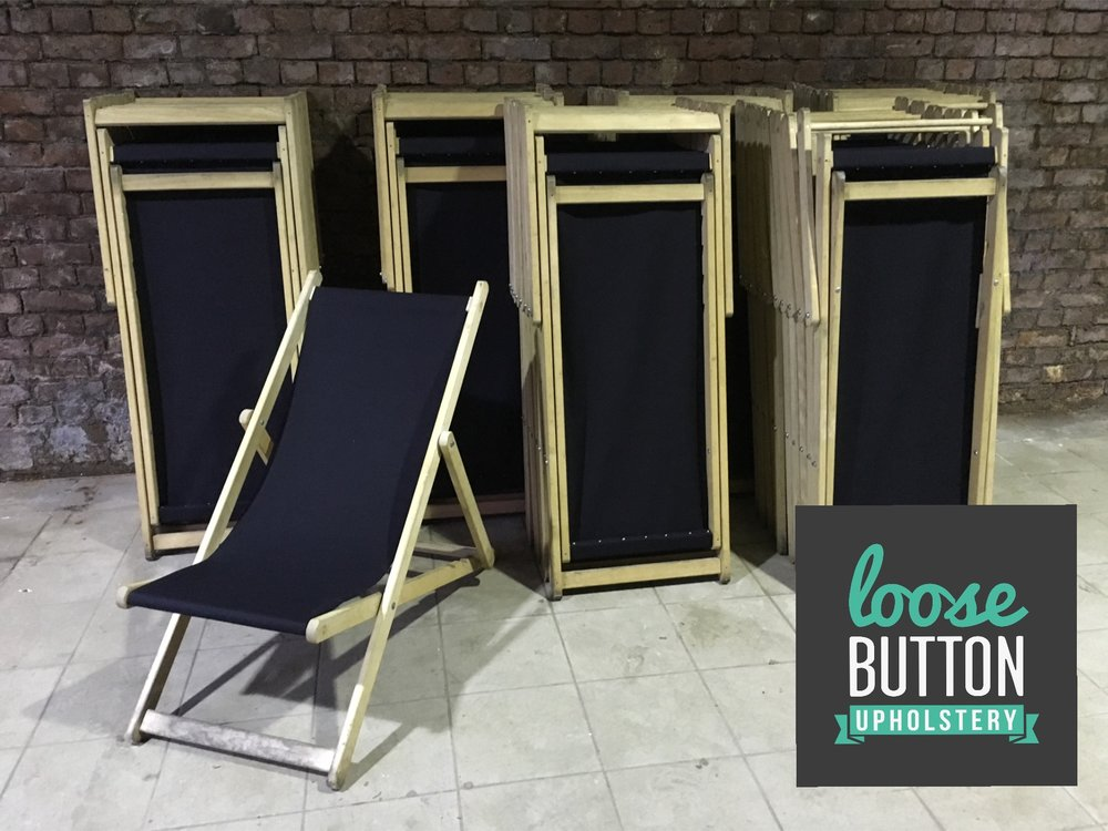 Deck Chairs - We re-vamped these for Allied London ready for the Duck Race
