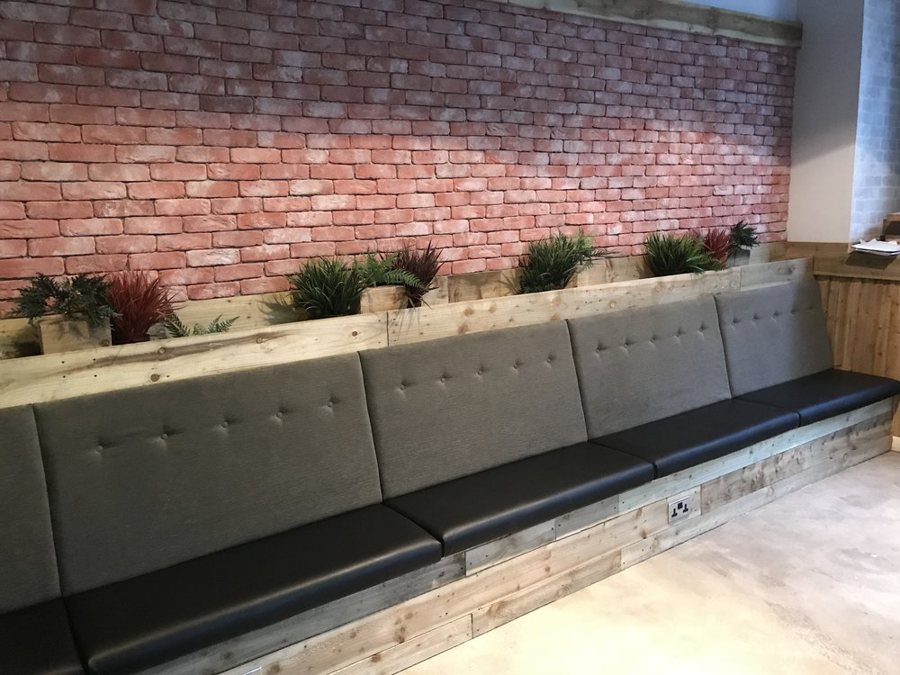 Brewski Mosley St - Bench seats for the new location eatery & bar