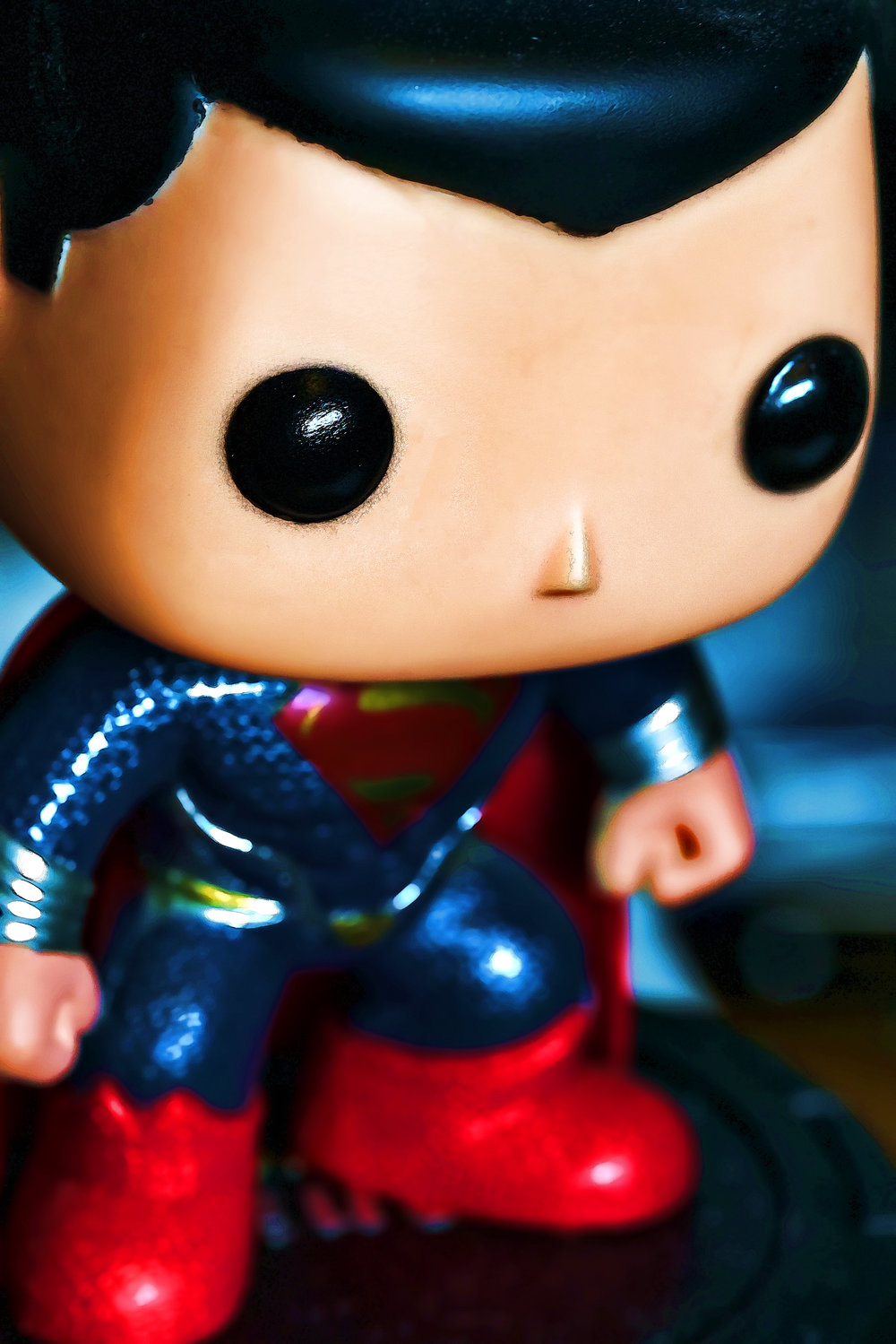 Funko Superman with a little Cartoon processing
