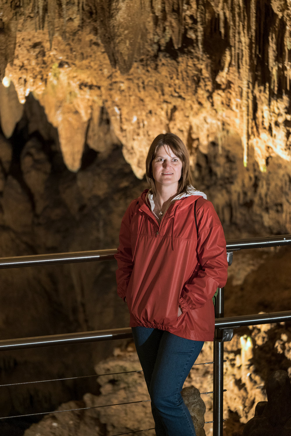 Wife at Luray Caverns