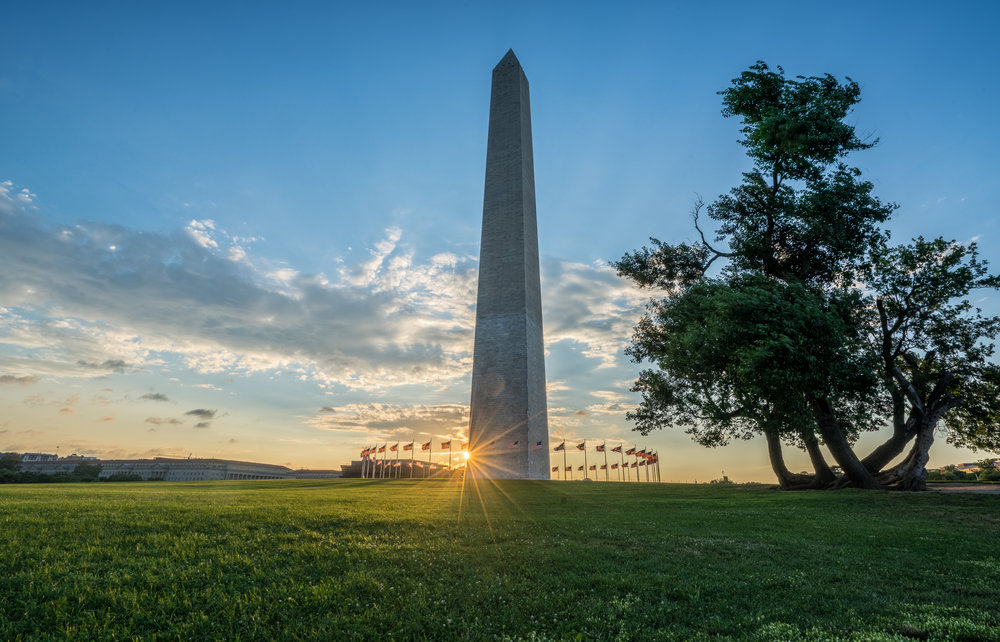 Washington Monument sunrise