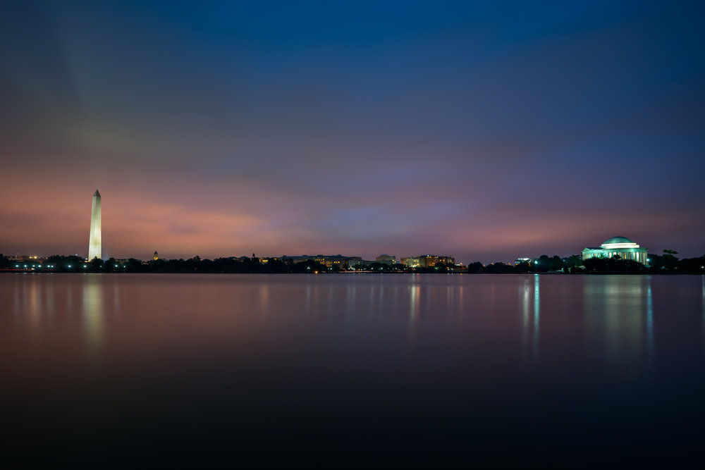 Sunrise over the Tidal Basin