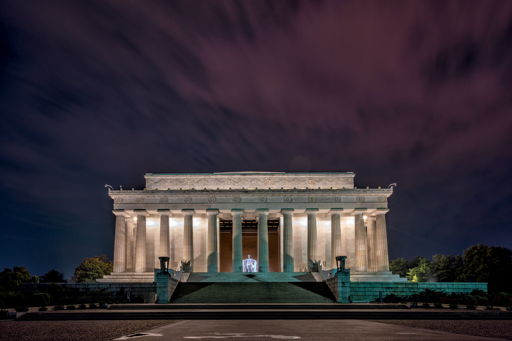 Lincoln Memorial on the second photo-walk around 4:40am