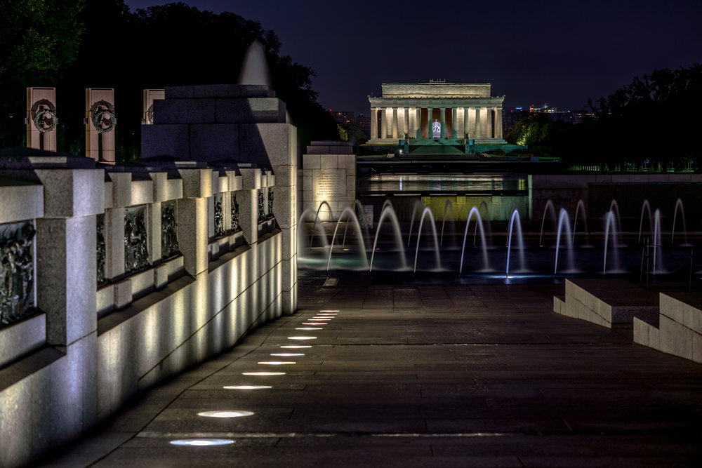 From the World War II Memorial between 4-4:30am