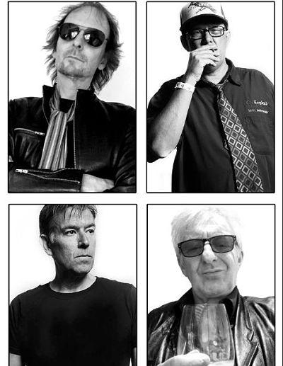 Clockwise from top left: Paul Gray, Sean Elliott, Rat Scabies, Alfie Agnew