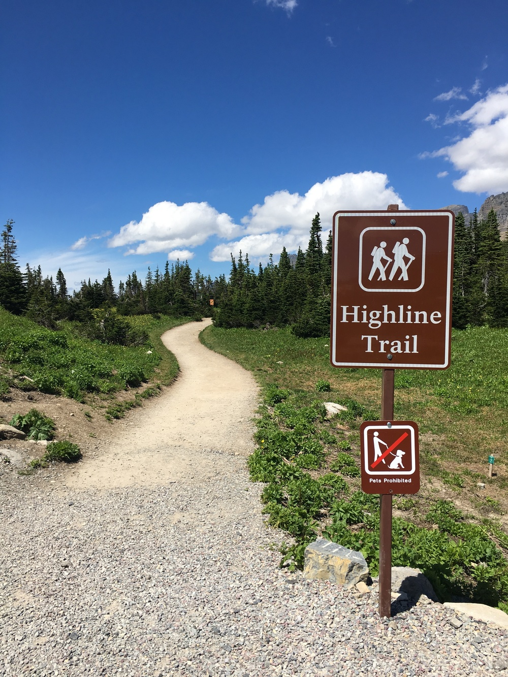 Highline trail trailhead
