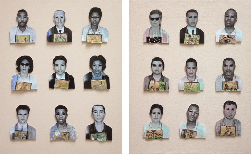 Mississippi Freedom Riders # 1, 2017 mixed media on canvas 11 x 16 inches (diptych)