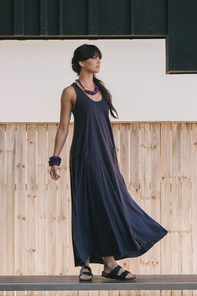 Dita maxi dress in grape