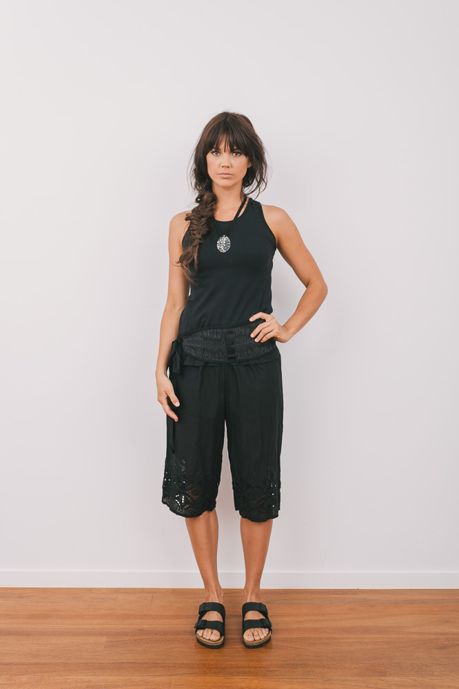 Tansy top with Patricia pant & Otis obi belt