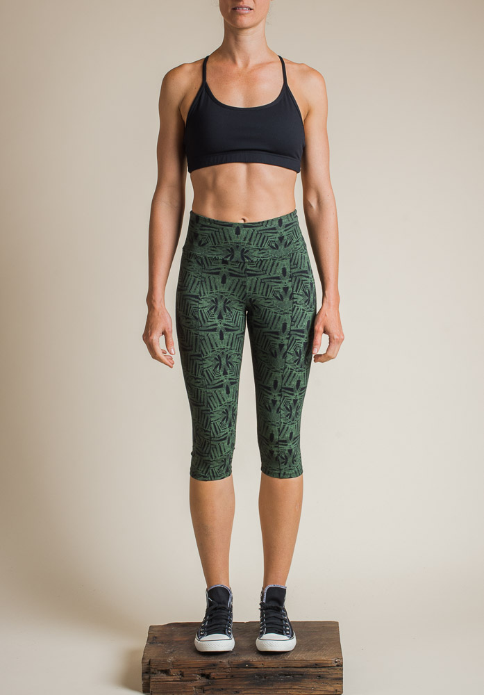 FERN 3/4 LEGGINGS FERN PRINT