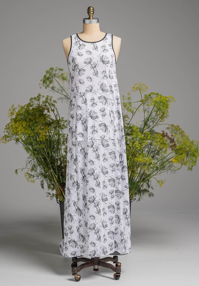Blythe maxi dress white dill