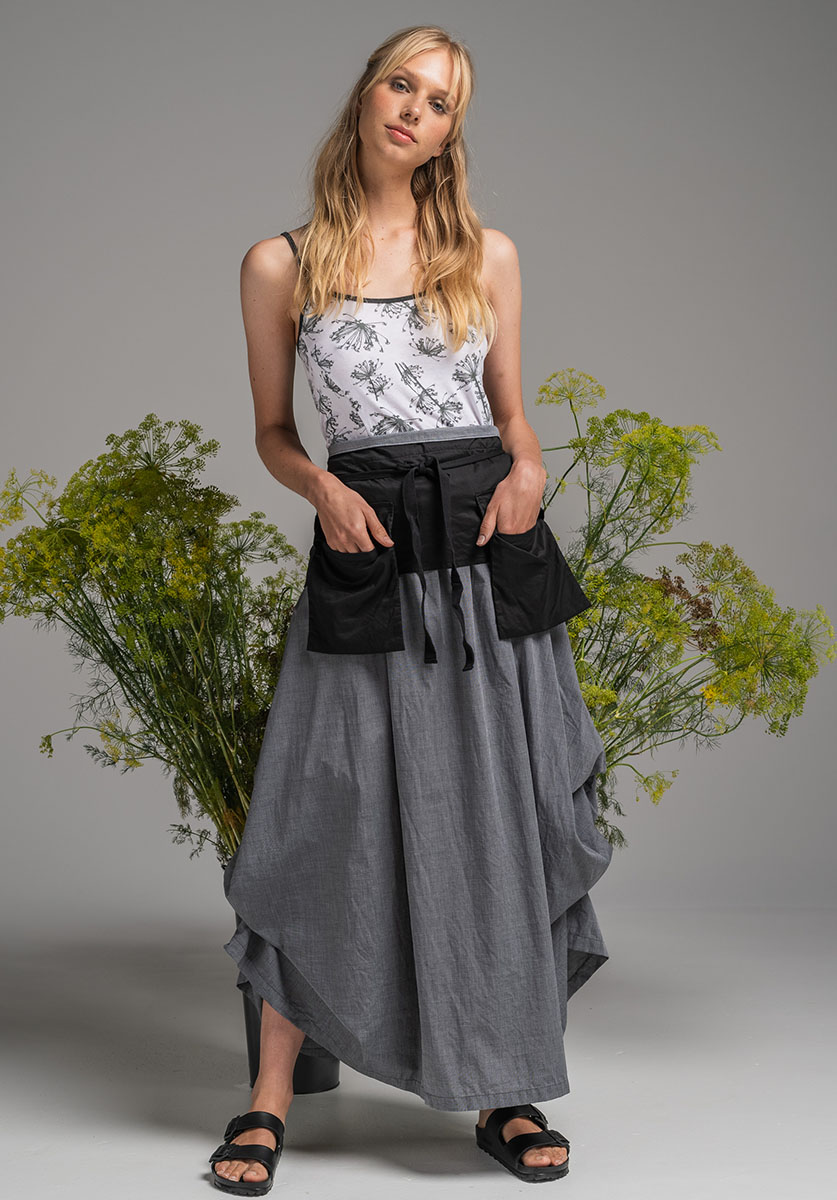 NASTURTIUM TOP, POCKET BELT & WILLOW SKIRT