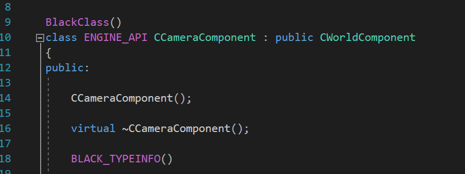 Declaration of Camera Component Class.
