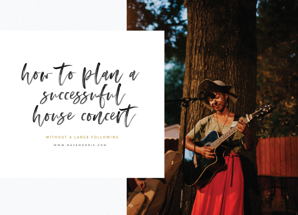 how to plan a successful house concert