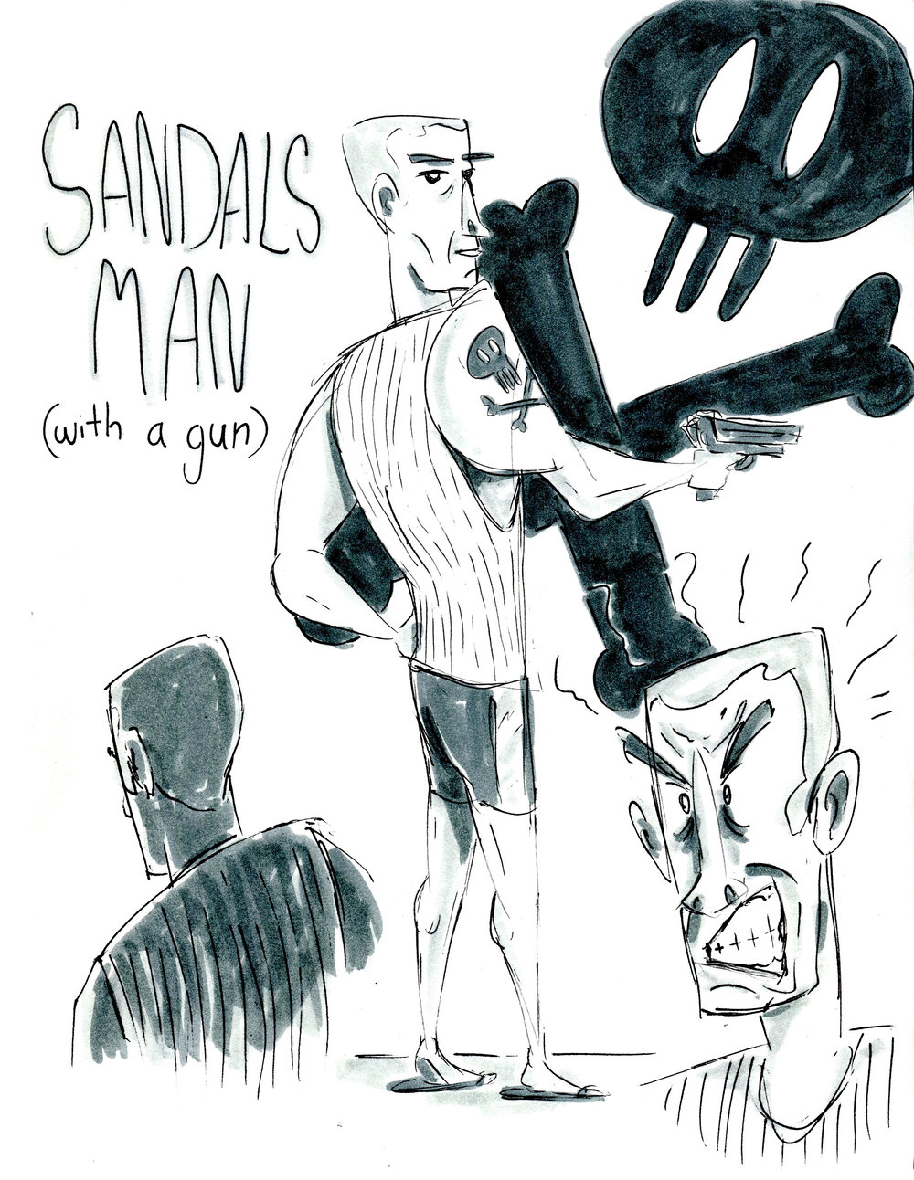sandals man with a gun.jpg