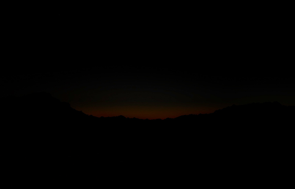 Last glow of daylight, Gila Mountains, 2013