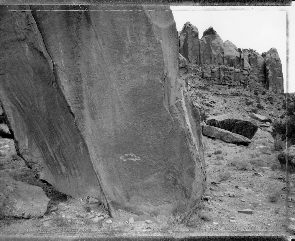 Auto petroglyph, Canyonlands, Utah, 1989