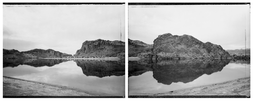 Camping on the water's edge, Colorado River near Parker, 1986