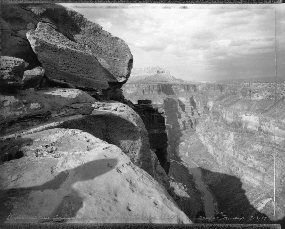 View of the Grand Canyon in homage to William Bell, east of Toroweap, 1988