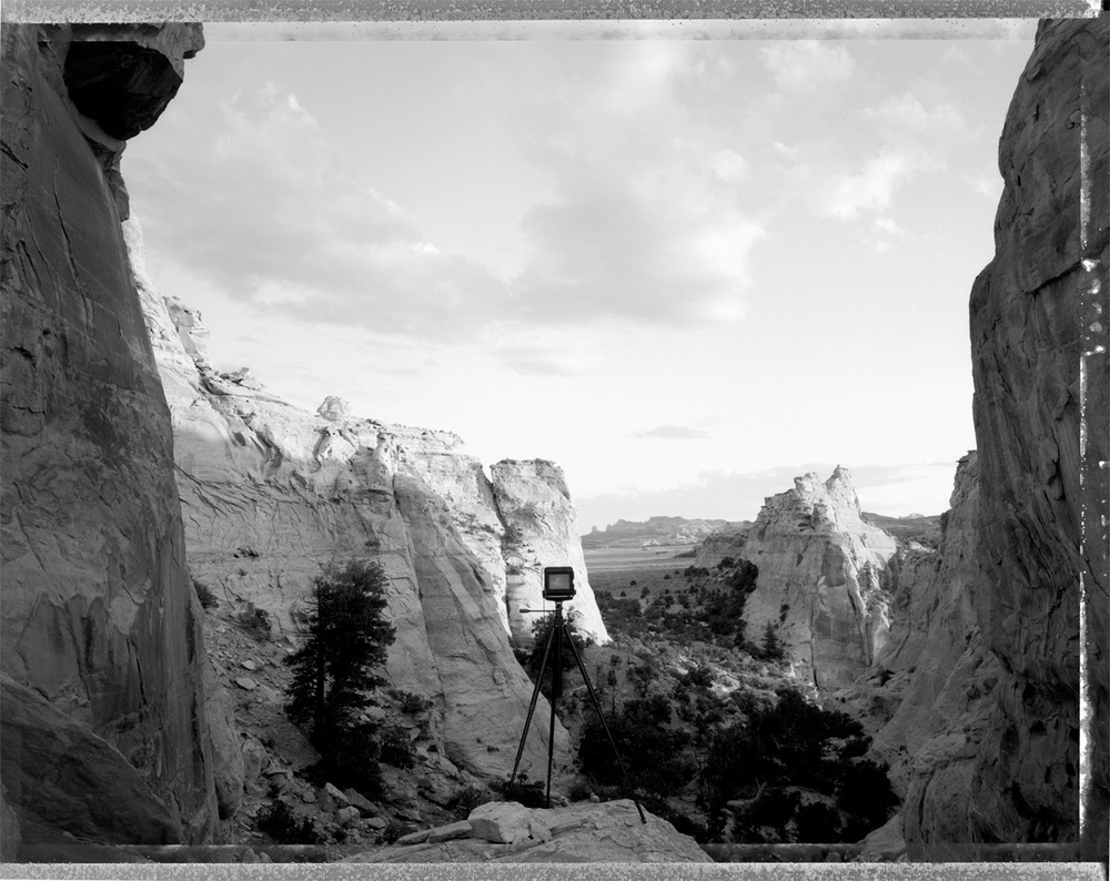 My camera at the head of Sinbad San Rafael Swell, Utah, 1993